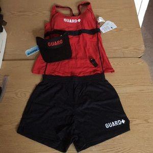 New Women's 4pc Lifeguard Halloween Costume Large